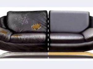 Перетяжка кожаного дивана в Туле