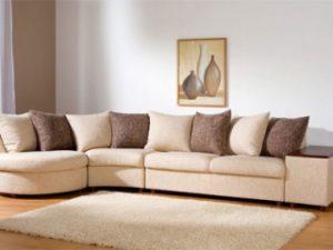 Перетяжка углового дивана на дому в Туле